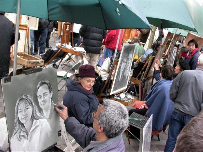 quartiere di montmartre-parigi