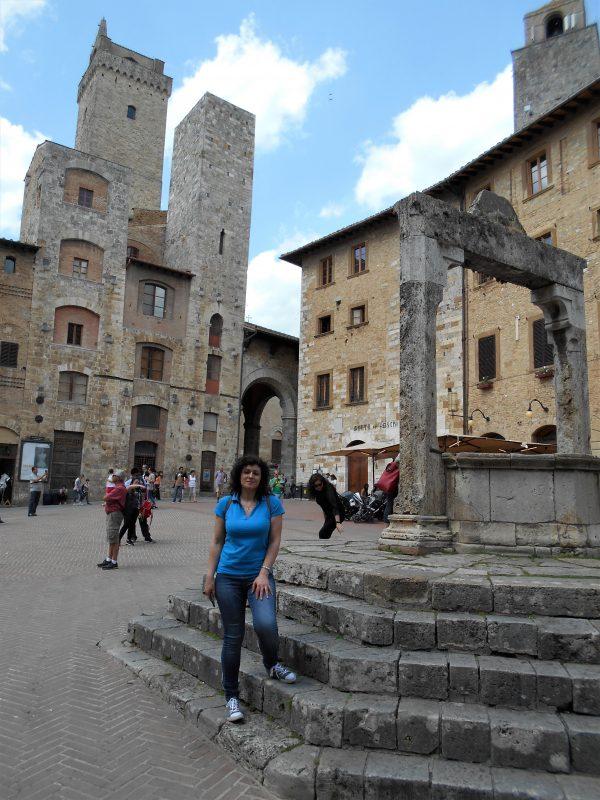 torre del diavolo e cisterna, piazza della cisterna - San Gimignano