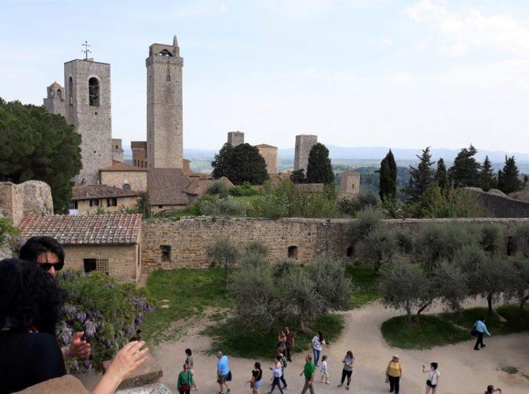 panorama dalla rocca di montestaffoli-san gimignano