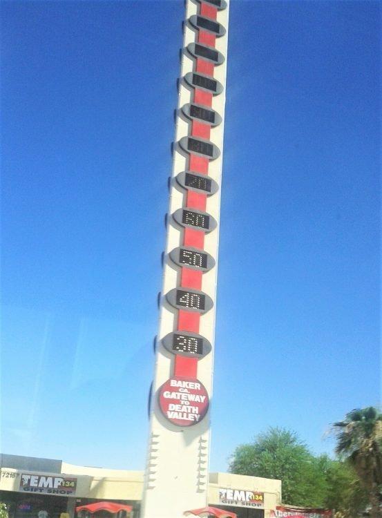 Termometro più grande del mondo-baker-california