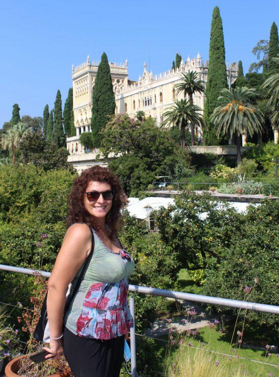 Vista di villa Borghese Cavazza dal terrazzo, Isola del Garda - Lago di Garda