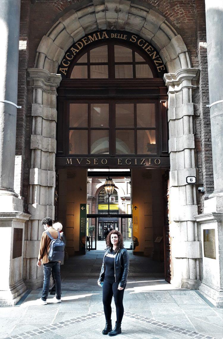 Entrata del museo egizio di torino